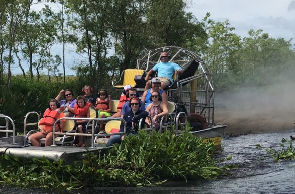 Air boat ride
